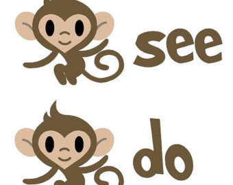 Monkey See Monkey Do Clipart.
