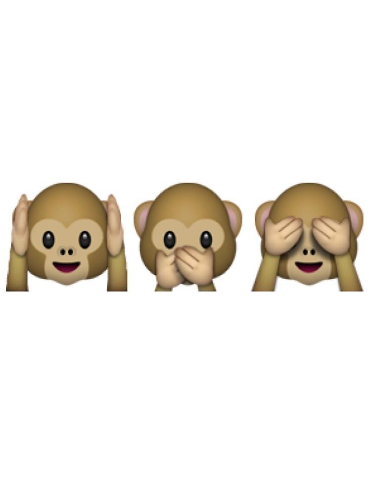 Monkey see monkey do emoji \