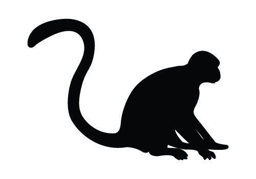 monkey silhouette.