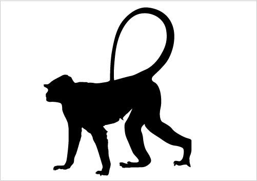 Baboon Silhouette at GetDrawings.com.