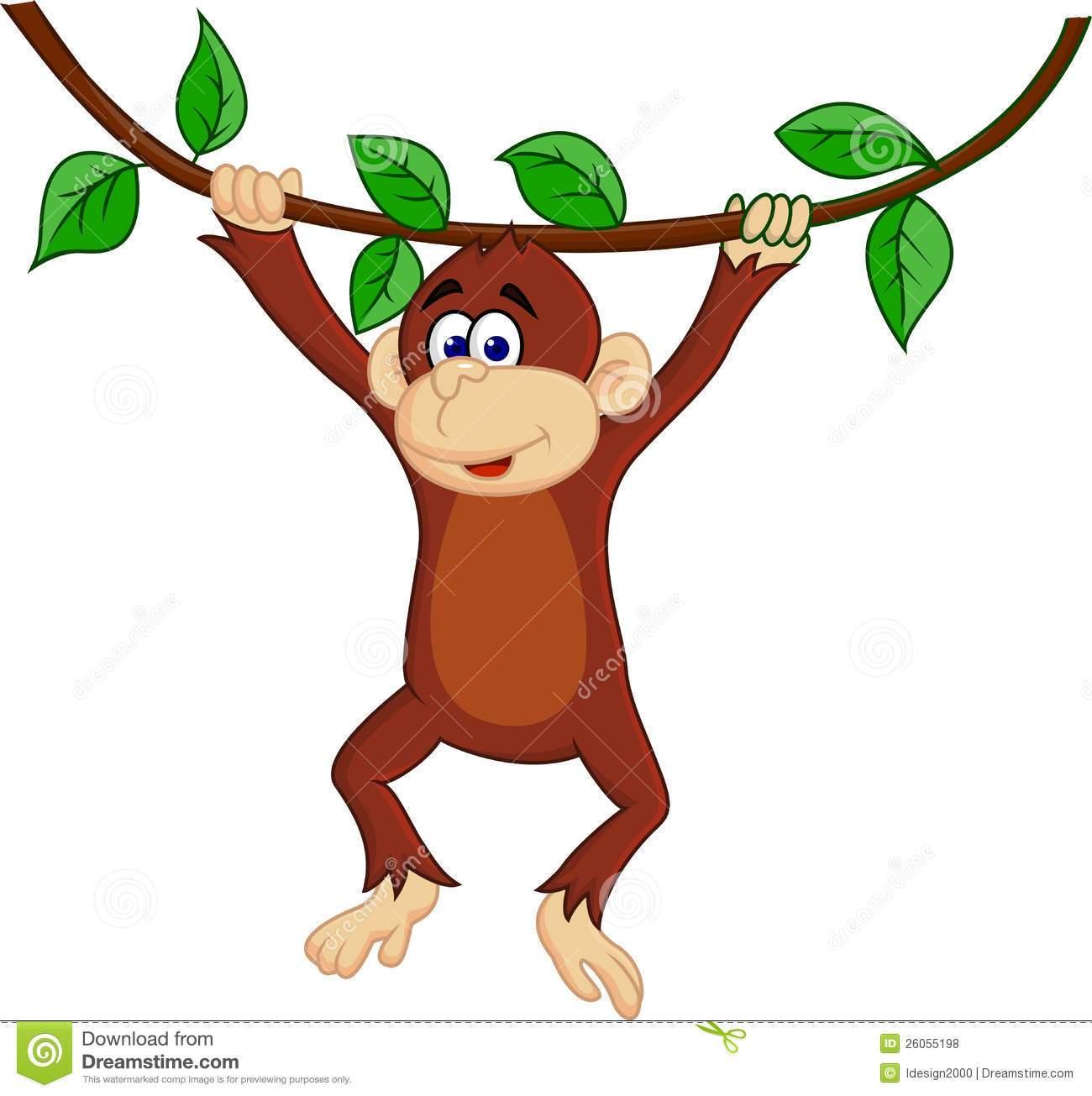 Swinging monkey clipart 3 » Clipart Portal.