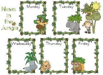 17 Best images about Classroom Themes: Jungle & Monkey Decor on.