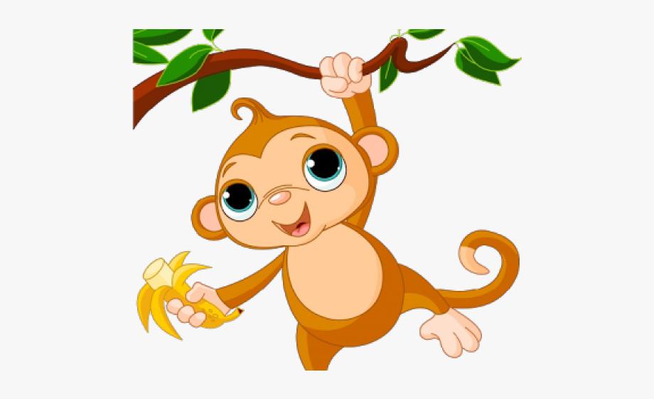 Monkey On Tree Clipart #2554994.