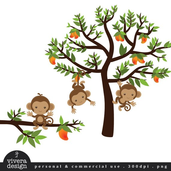 Monkeys on a Mango Tree.