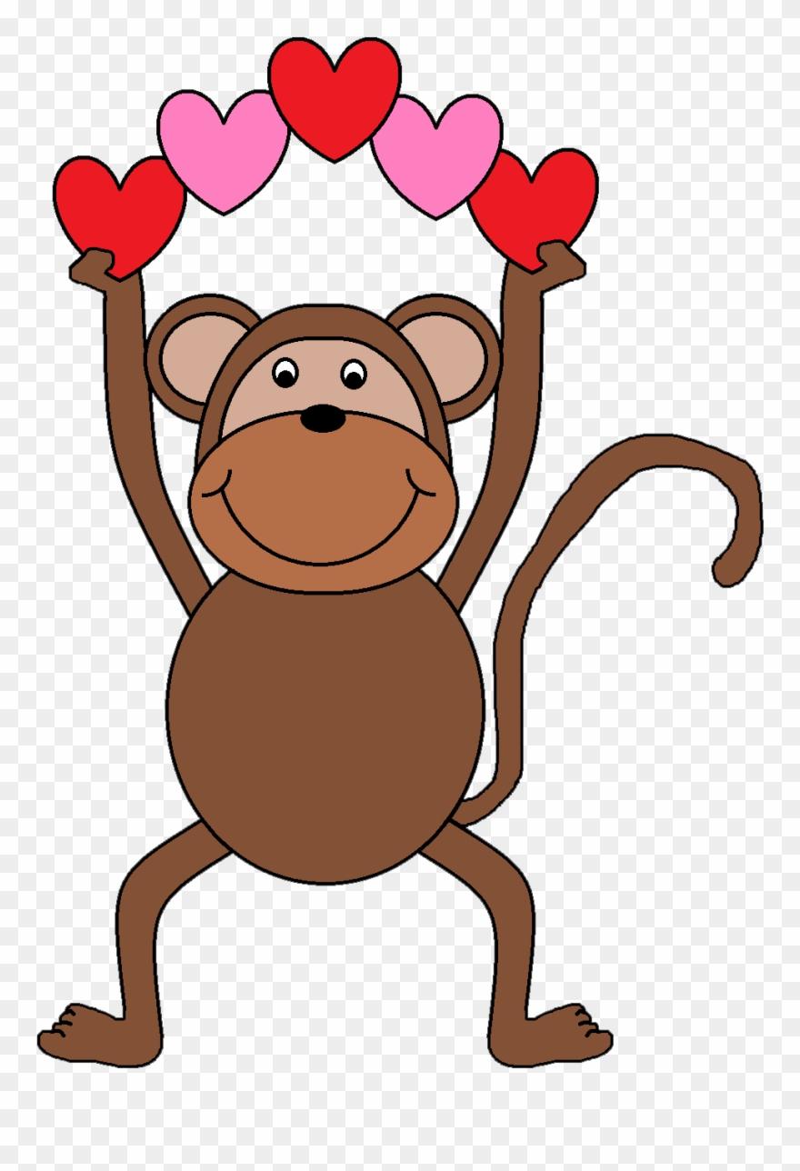 Valentine\'s Day Clipart Monkey.