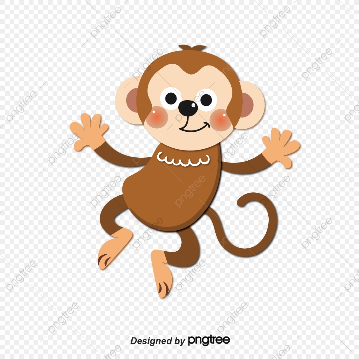 Cute Monkey Vector, Monkey, Animal, Lovely PNG and Vector.