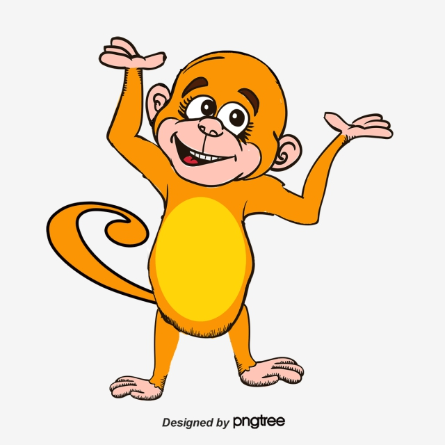 Monkey, Monkey Clipart, Cartoon Monkey PNG and Vector for.