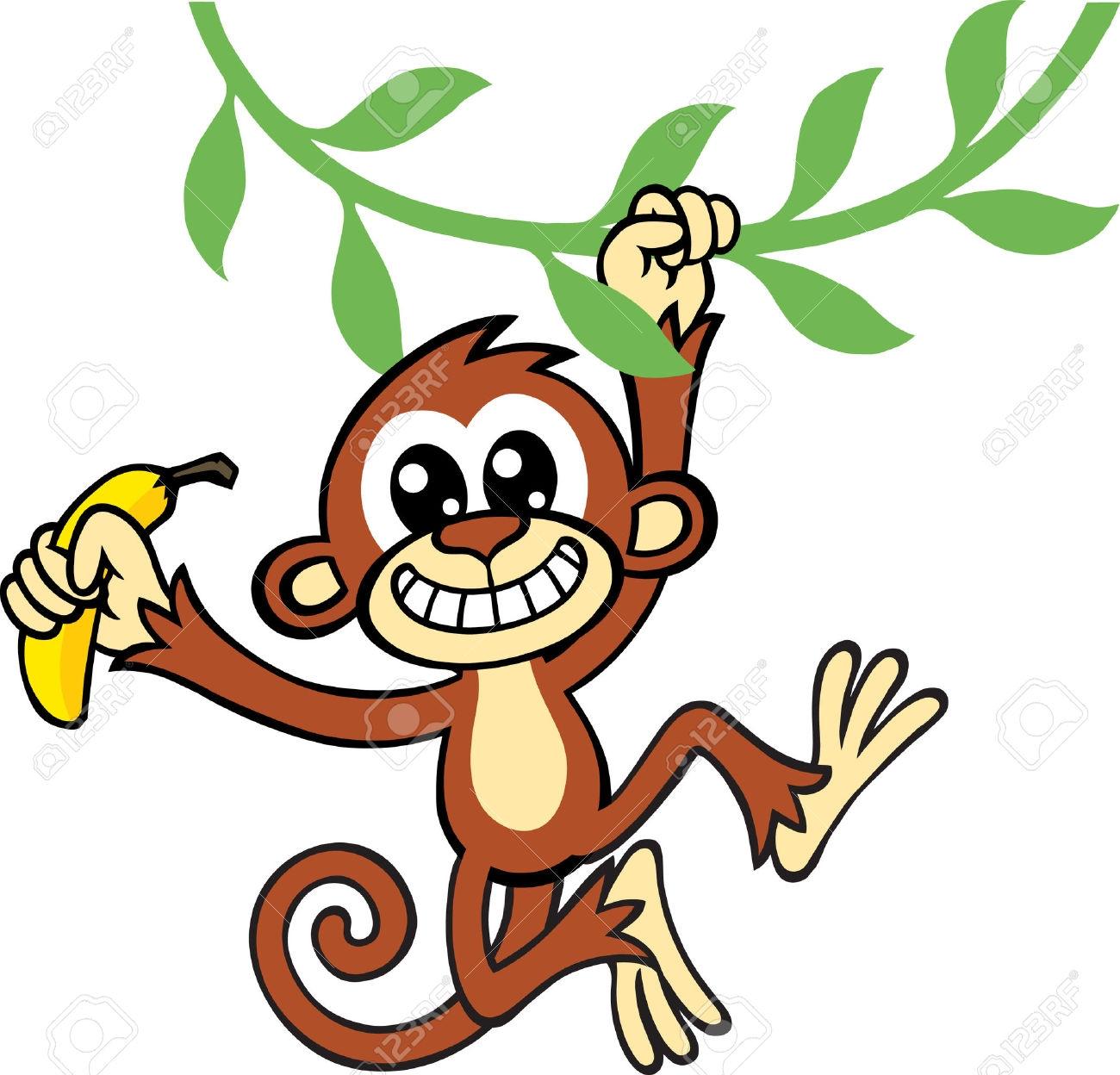 The Monkey Eat Banana Clip Art.