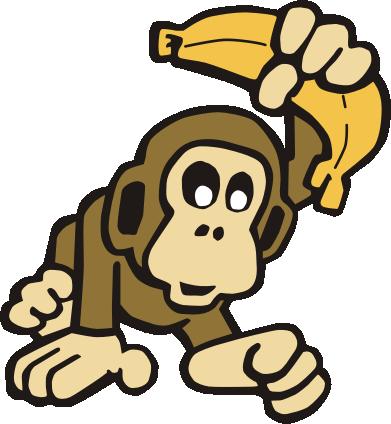 Best Clip Art Monkey With Banana.