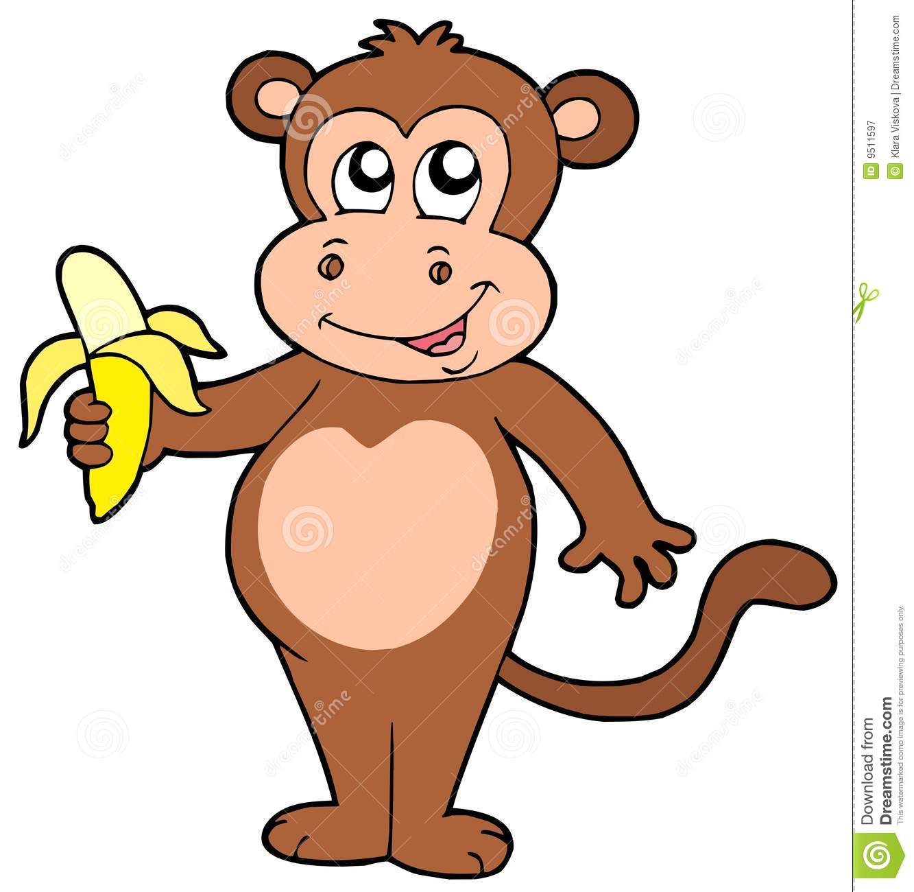 Monkey Eating Banana Stock Photos, Images, & Pictures.