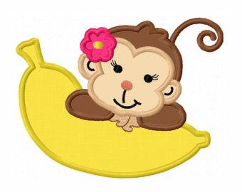 Little Girl Monkey Clip Art.