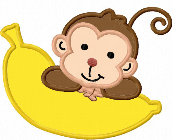 Monkey With Banana Clipart Clipground