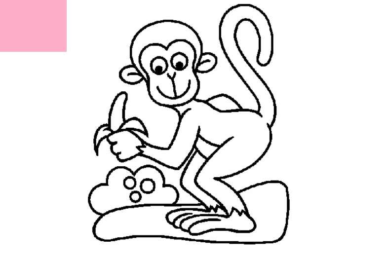 How To Draw A Monkey Eating A Banana.