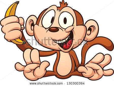 Monkey Banana Stock Images, Royalty.