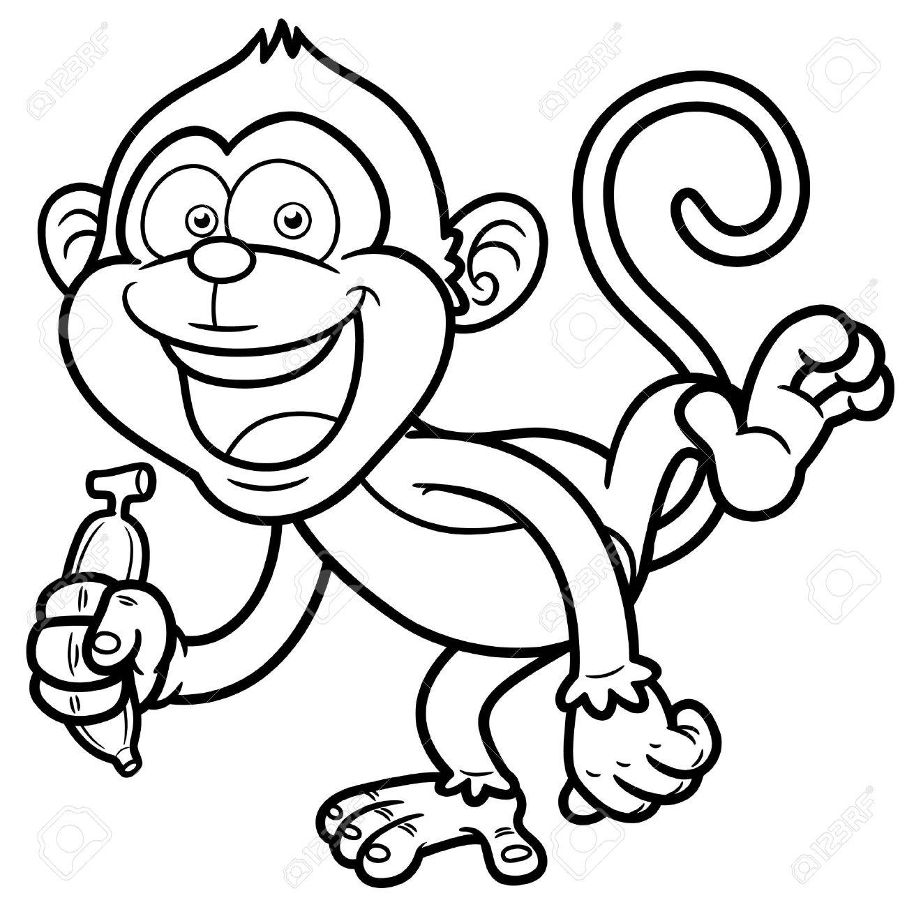 Best Monkey Outline #16613.