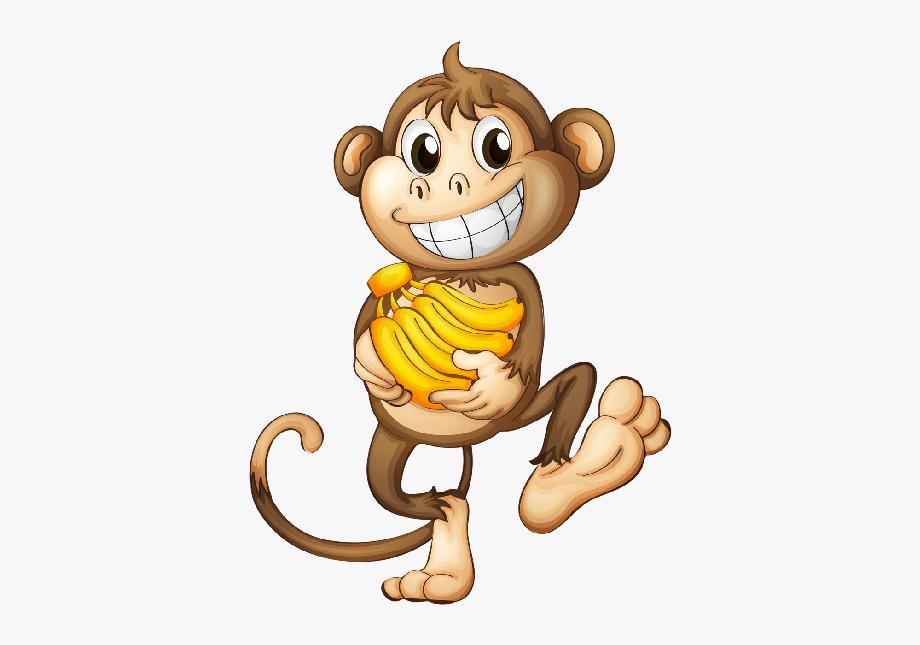 Monkeys Eating Bananas Clipart Png.