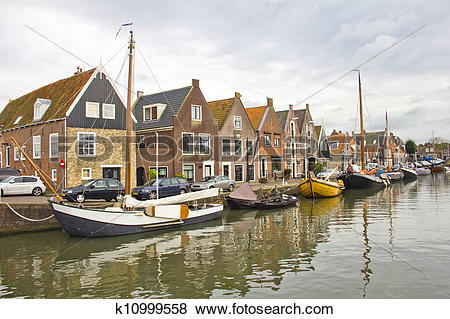 Pictures of Old port in Monnickendam, The Nethe k10999558.