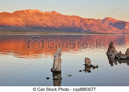 Picture of Extremely beautiful landscape. Mono Lake on a sunset.