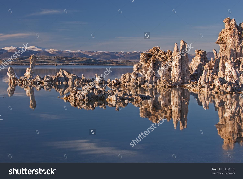Landscape Mono Lake Tufa Formations Eastern Stock Photo 83934709.