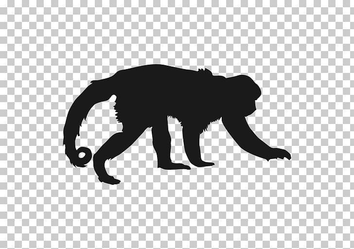 Fotografía de silueta de gorila, mono negro PNG Clipart.