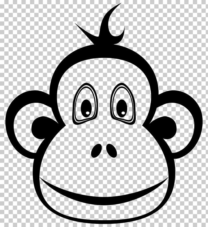 Mono mono chimpancé, mono negro PNG Clipart.