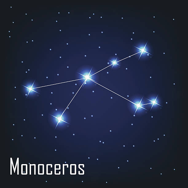 Monoceros Constellation Clip Art, Vector Images & Illustrations.