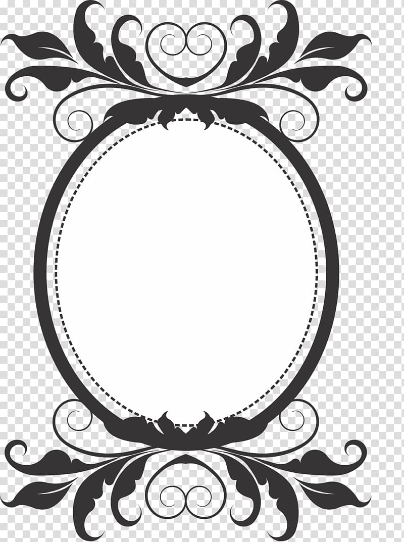 Monogram Web template Logo, retro border transparent.