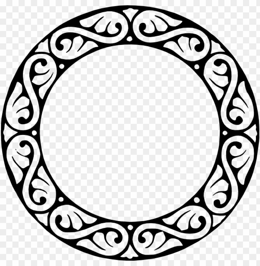 tribal circle border clipart.