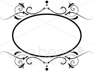 Spiral Monogram Clipart.