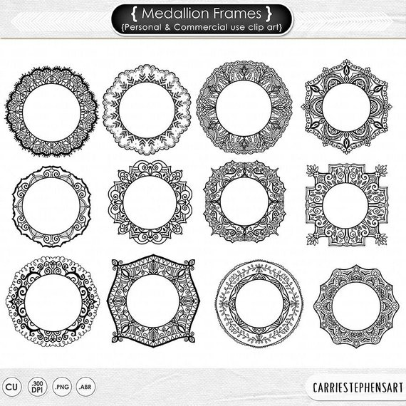 Download Free png Medallion Frame Clip Art, Mehndi Circle.