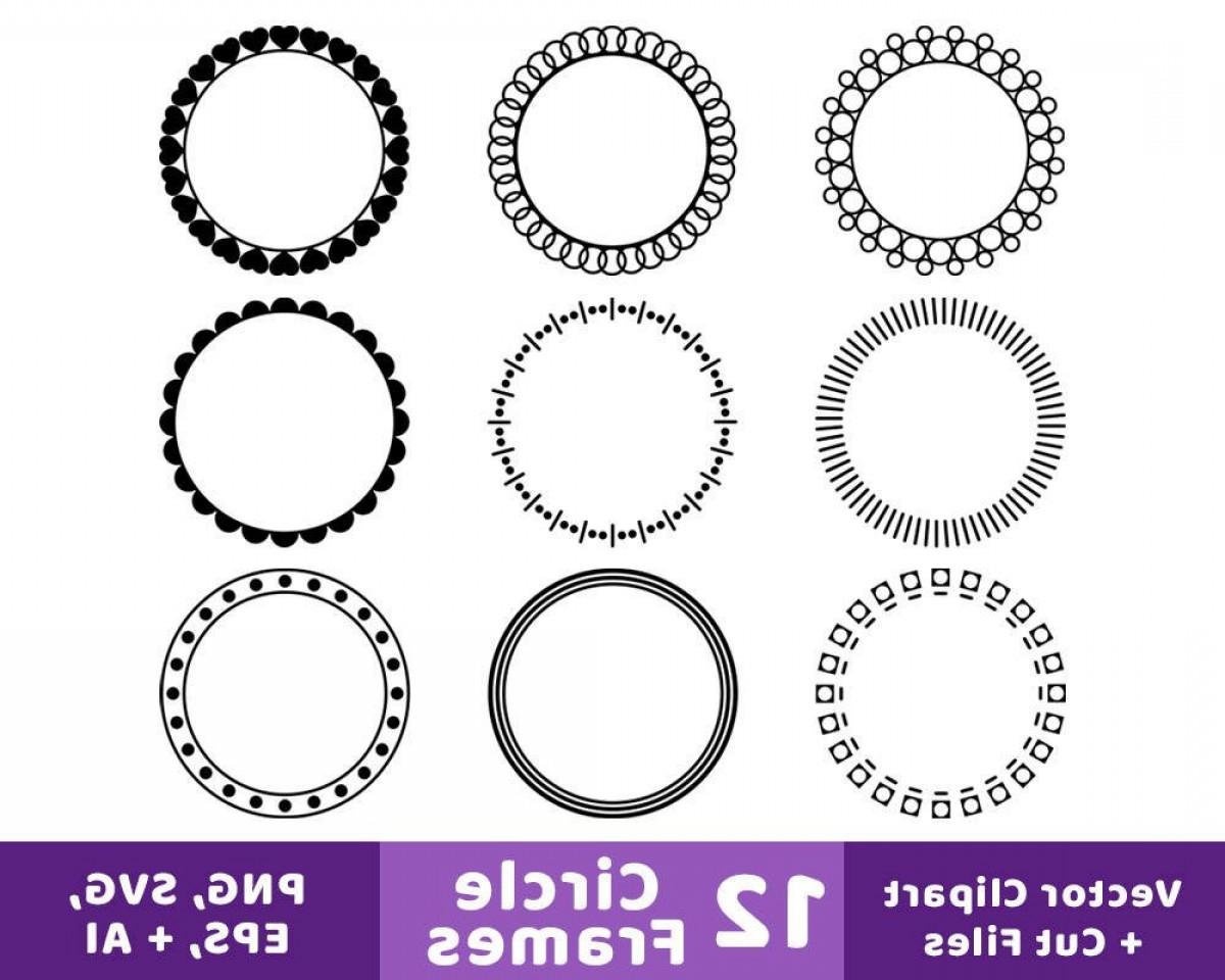 Circle Frames Clipart Monogram Frame.