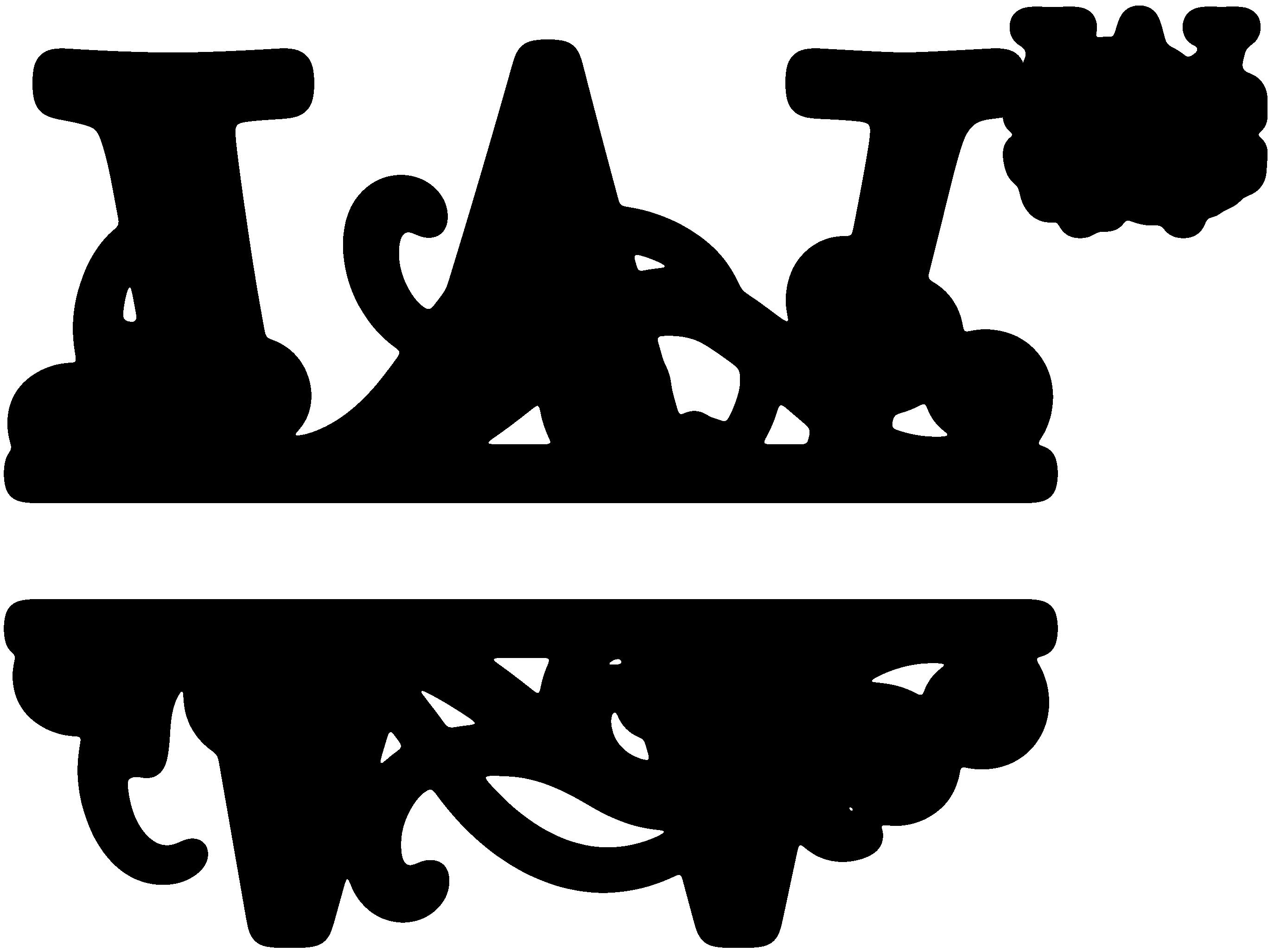 Monogram Alphabet Letters Clipart.