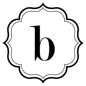 B monogram clipart.