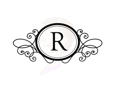 R Monogram Clipart.