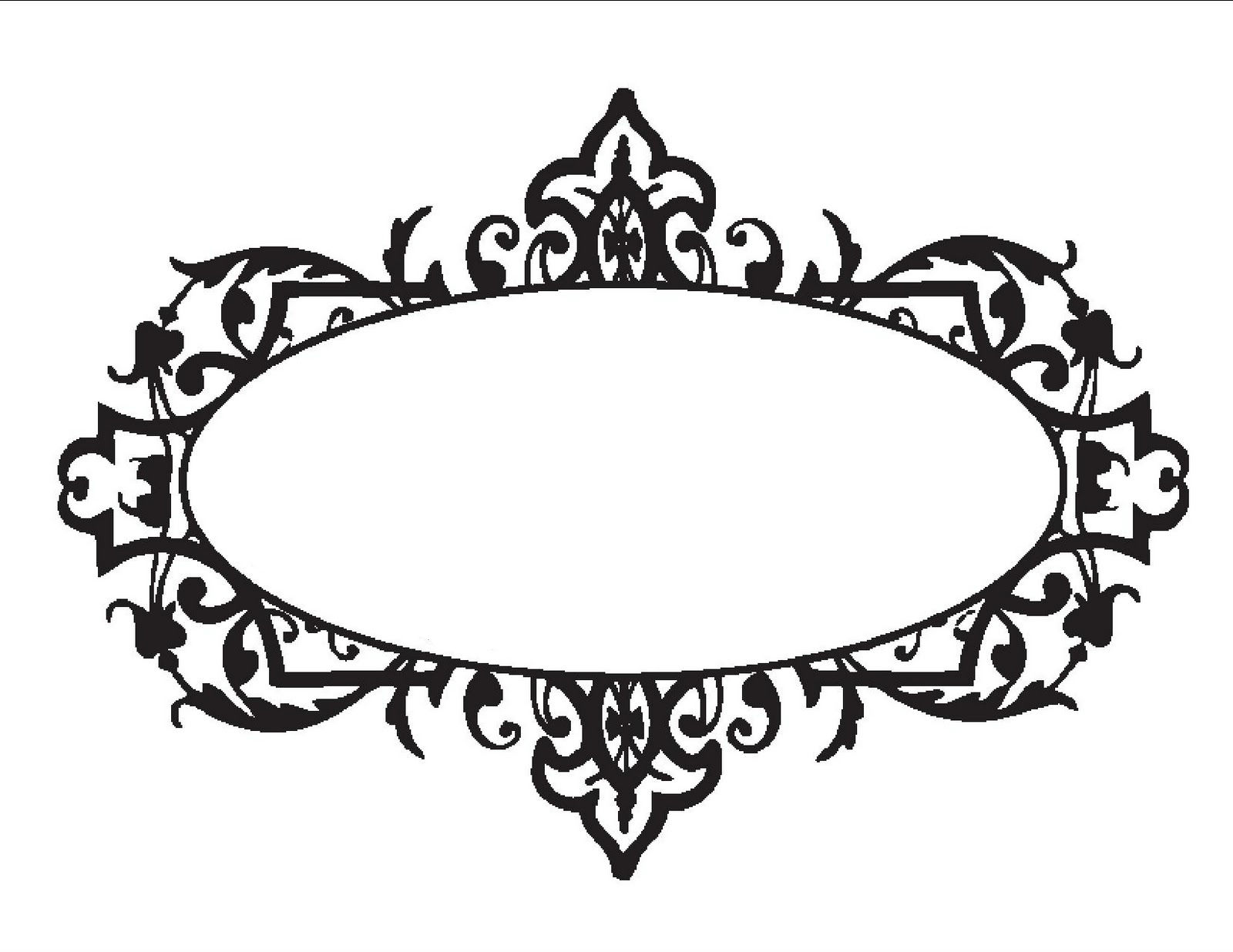 Monogram Templates Clipart.