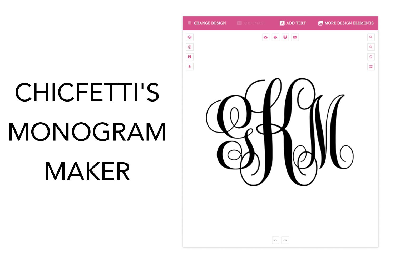 Monogram Maker.