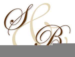 Clipart Wedding Monogram.