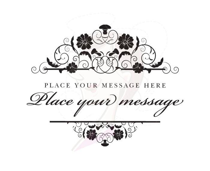 Monogram Digital Frame Vintage Flourish Clip Art Clipart Wedding.