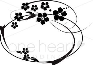 Blossom Monogram Clipart.