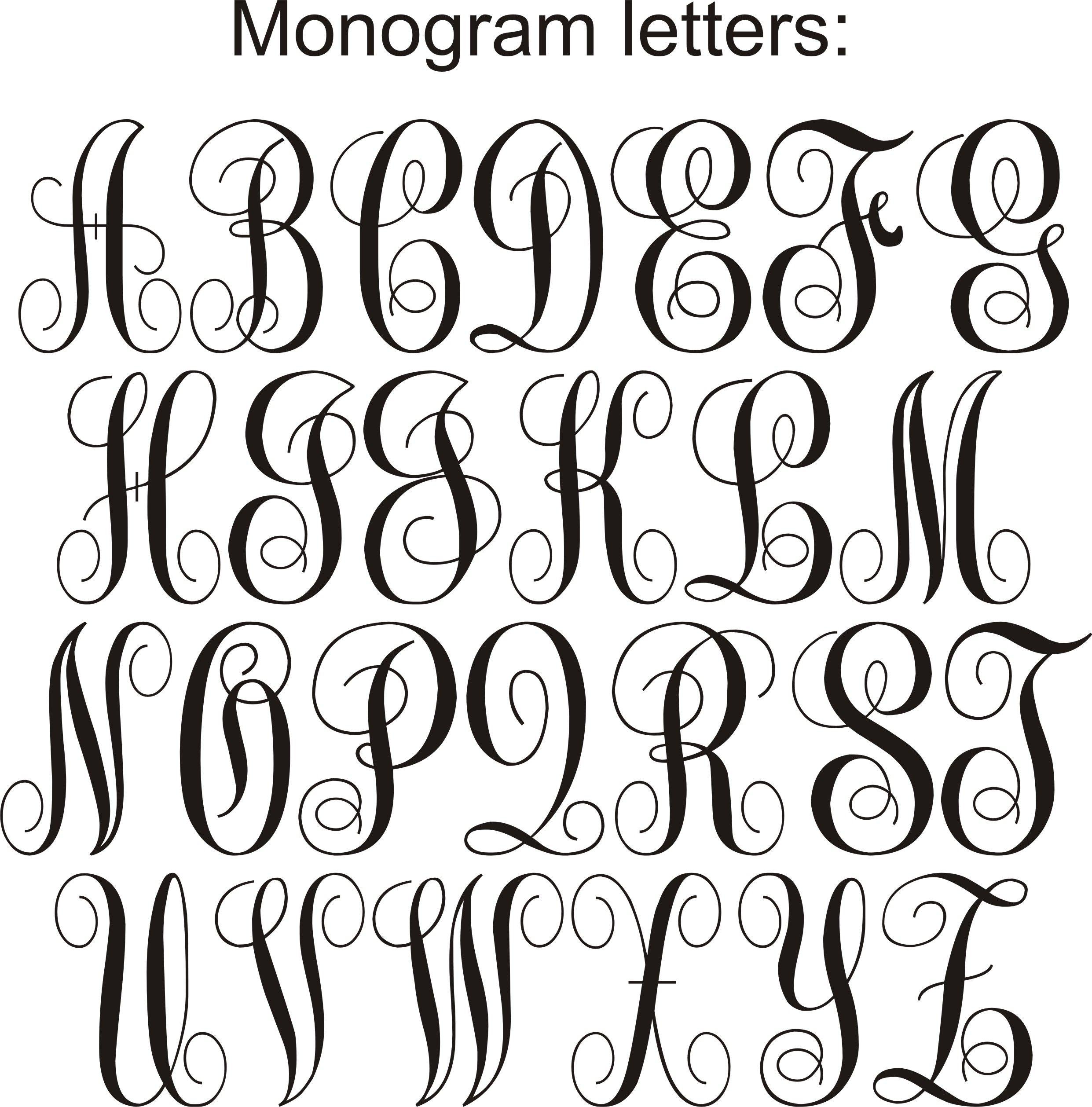 Monogram Fonts Alphabet Clipart.