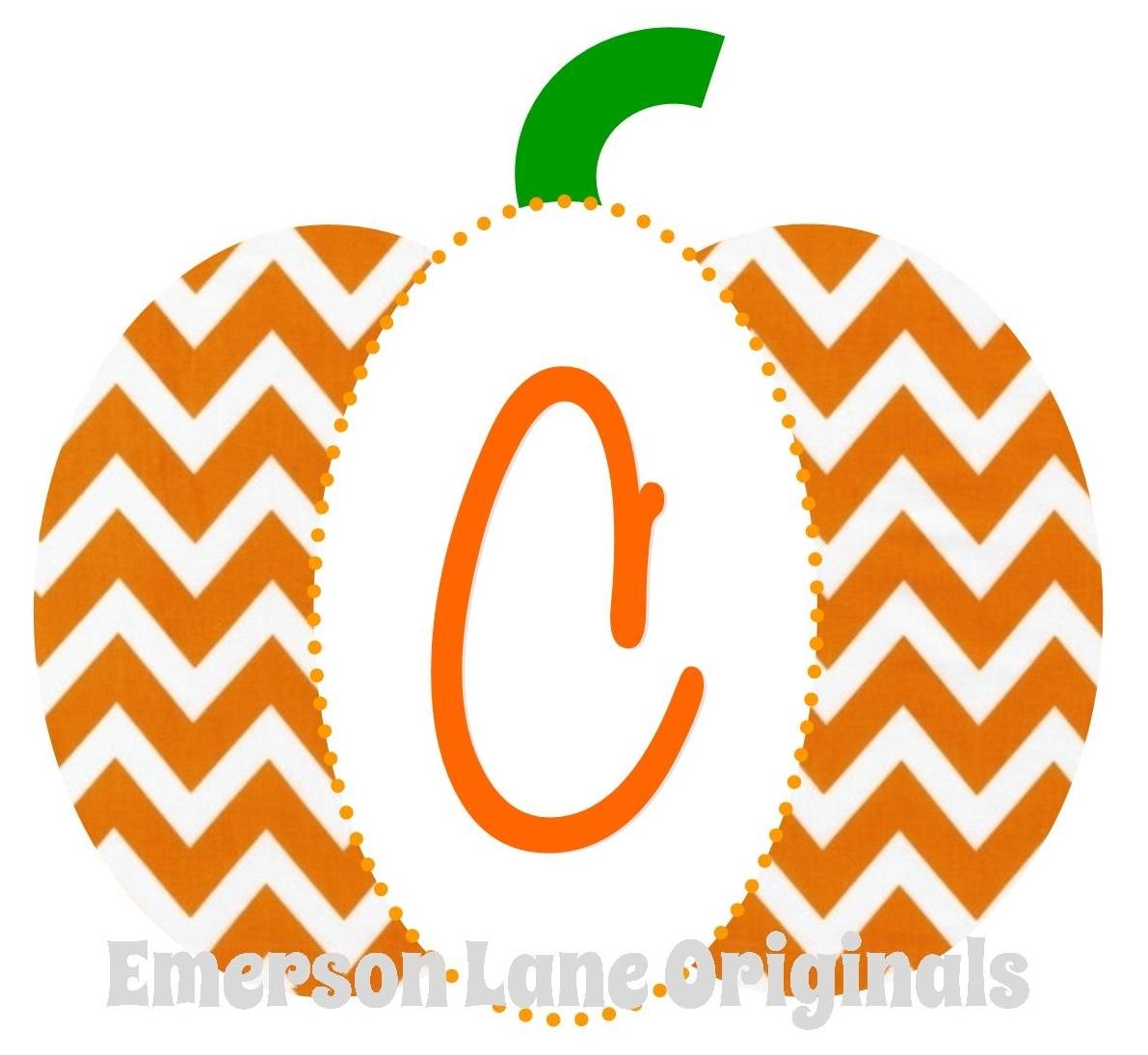 Monogram Pumpkin Clipart.