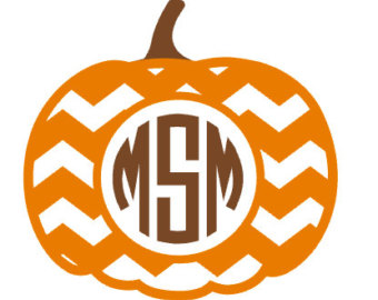 Pumpkin Monogram Clipart Black And White Clipground