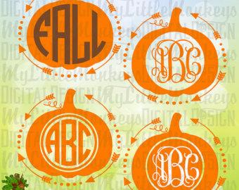 Pumpkin monogram.