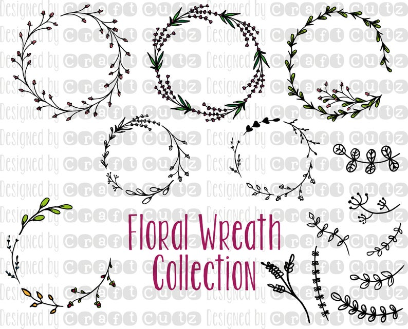 Floral Wreath svg.