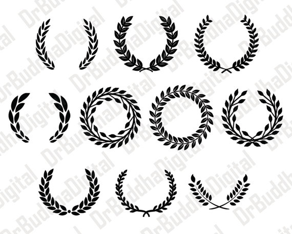 Sale! Laurel Wreath Monogram Frame SVG Collection.
