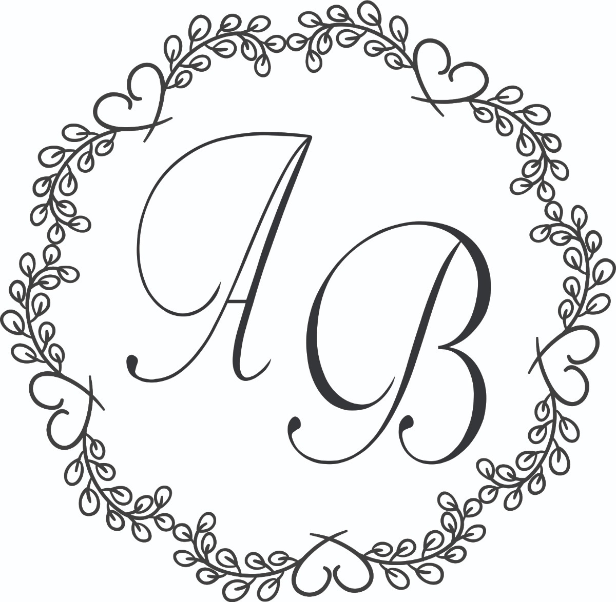Arquivo Digital Arte Casamento Monograma Brasão Envio Gratis.