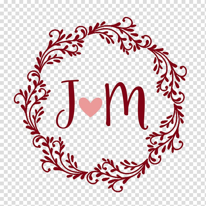 Marriage Monogram Convite Wedding, noivos transparent.