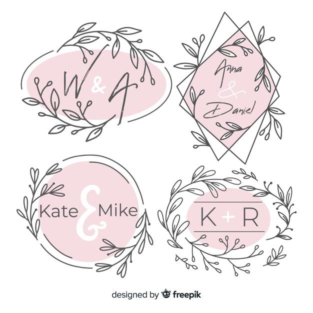 Pack de logos monograma de boda..