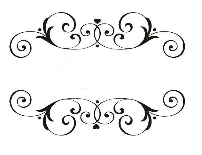Moldura Monograma Rosa Png Vector, Clipart, PSD.
