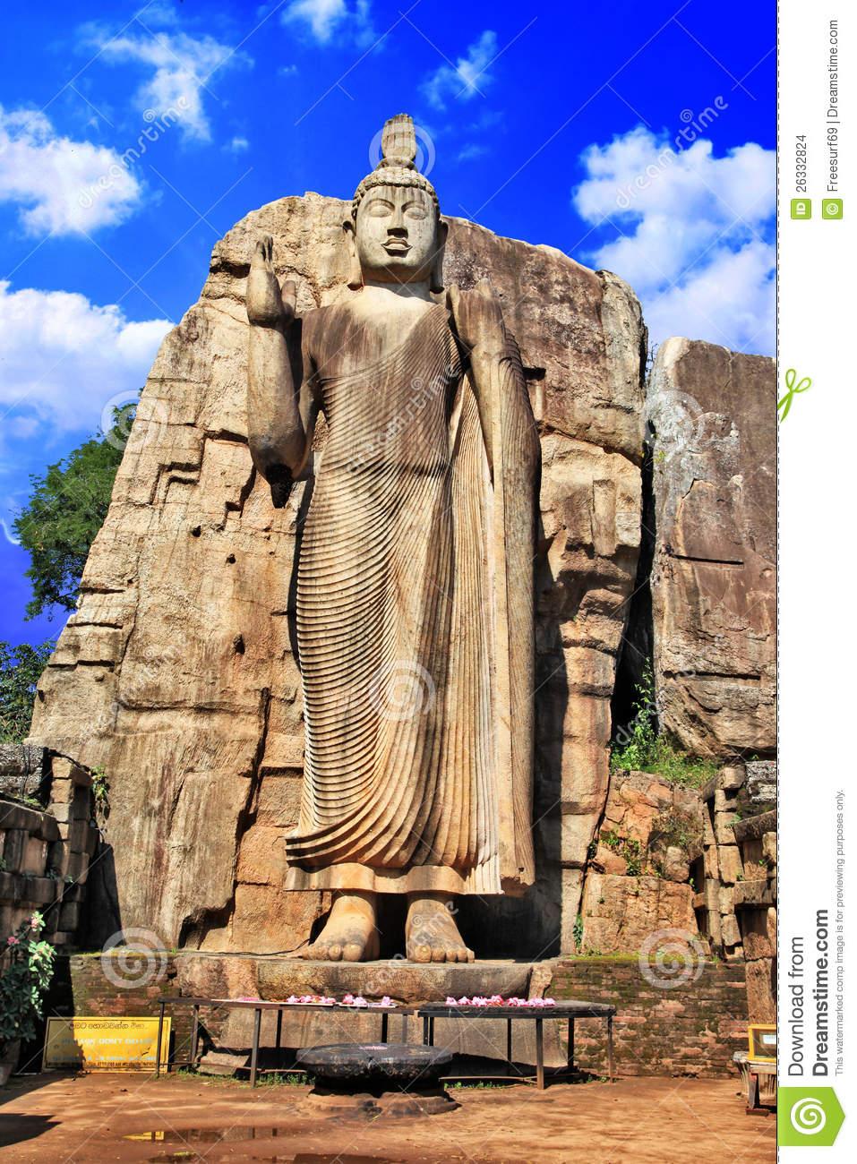 Buddha Monolith Statue Stock Images.